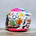 *世帽館安全帽* 新款!! ONZA MAX-R2代 限量彩繪 海底世界 白桃 3/4罩 半罩 全罩+免運+送七彩電鍍片