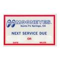 MOON(月亮)Next Service Due粘紙 MOONEYES