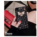 3D glitter rhinestone Square Patterned Case For Oppo R11S luxurious Lattice Cases For Oppo R11S