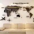 [S-499]世界地圖3D水晶立體壓克力牆貼壁貼