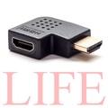 超高品質 轉接頭 L型 HDMI 公轉母 24K鍍金 支援1.4版 1.3版 HDMI線 L型