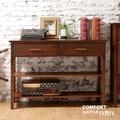CiS自然行實木家具 電器櫃-碗盤櫃-雜貨櫃-置物櫃W110cm(咖啡胡桃色)