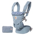 【加贈同品牌今治口水巾1入】美國【ErgoBaby】Omni全階段型四式360嬰兒揹帶(藍花)
