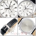 SEIKO 手錶 精工表 SNAF69P1 經典優雅羅馬時標 三眼計時 日期 鬧鈴 皮帶 男錶