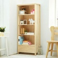CiS自然行實木家具 書櫃一抽-原木書櫃(水洗白色)