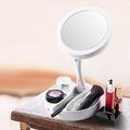 LED環形燈創意直立化妝鏡-1入