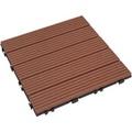 【貝力地板】太陽神DIY塑木止滑踏板 (30 x 30cm - 咖啡直條 - 9片/箱)