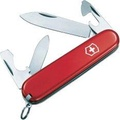 Victorinox Swiss Army มีดพับอเนกประสงค์ ลิขสิทธิ์แท้ VICTORINOX SWISS ARMY KNIVES RECRUIT SAK0.2503 MEDIUM POCKET KNIFE WITH TEN FUNCTIONS-RED