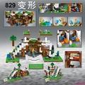 低價促銷√得高829我的世界積木瀑布基地21134拼裝玩具6兼容樂高8男孩子10歲