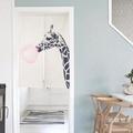 創意可愛長頸鹿卡通動物兒童房門簾屏風隔斷風水簾廁所衛生間掛簾WY