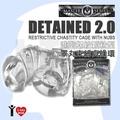 美國 XR brands 進階螺紋顆粒型 睪丸束縛貞操環 DETAINED 2.0 RESTRICTIVE Chastity Cage