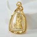 Porra Jewelry จี้ หลวงปู่ทวด หลวงปู่ทวดวัดช้างให้ หลวงพ่อทวด พระหลวงปู่ทวด จี้พระหุ้มเศษทอง กันน้ำ Thai Amulet รุ่น PGJ-099
