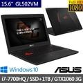 ASUS華碩 15.6吋 電競筆電 I7-7700HQ/8G/1TB+256G SSD/GTX 1060-3G (GL502VM)