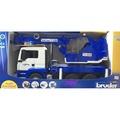 JCT BRUDER─1/16 藍色吊車組 037703