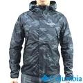 【Columbia哥倫比亞】男-單件式防水外套-黑色迷彩 機能.運動.防潑水