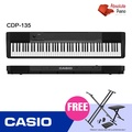 Official Seller - Casio CDP-135 Contemporary Digital Piano - With X-Stand, X-Bench & Piano Dust Cover