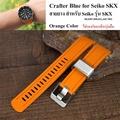 สายนาฬิกา Crafter Blue Orange Color for Seiko SKX007,009,011,A65k