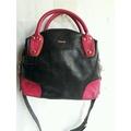 斜背包*黛安娜 Diana 真皮包 全新 桃紅黑色手提包 手拿包 及肩背包 側背包 斜背包 附長帶 展示包特價