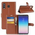 Flip Leather Wallet Case for Samsung Galaxy A8 Star - Brown