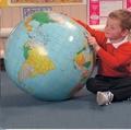 40เซนติเมตรพองโลกลูกโลกสอนการศึกษาภูมิศาสตร์ของเล่นแผนที่บอลลูนลูกบอลชายหาด