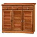 《Homelike》鄉村風樟木4尺鞋櫃  置物櫃 收納櫃 玄關櫃 邊櫃 實木櫃