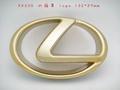 LEXUS 凌志 RX 330 RX330 水箱罩 LOGO 前標誌 鍍鉻金 金色