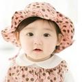寶寶 遮陽帽 DL韓版嬰兒 漁夫帽 寶寶防曬帽 太陽帽 公主草帽 花邊帽 (帽圍48-50cm) 【JD0047】