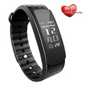 iWOWNfit i6HR fitness tracker both (Black-large)
