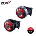 【INFINI】Ninja自行車尾燈I-462R / 城市綠洲(單車燈、LED自行車燈、車尾燈、腳踏車燈)