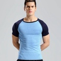 Compression T Shirt Men Brand Short Sleeve T-shirt Male Quick Dry Patchwork Tshirt Breathable Elastic Fitness Tights Muscle Tees