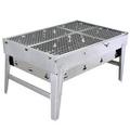 【LIFECODE】BBQ-便攜式不鏽鋼折疊烤肉架/碳烤爐(可搭配BBQ燒烤桌使用)