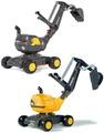 子供用乗用玩具borubodiga 4輪脚踢型的裝載機裝載機為因為耕的&是能享受鏟起來的方向盤操縱的roritoizuorenji×黑色輕量所以搬動而也便利! 德國製造玩具騎開rolly toys digger VOLVO kaminorth shop