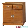 【品味居】蘇艾亞時尚2.7尺實木二門餐櫃/收納櫃