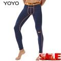 YOYO กางเกงยืดกางเกงออกกำลังกายชุดบอดี้สูทกางเกงบาสเกตบอลกางเกงขายาวออกกำลังกาย Hipster กางเกงวิ่ง