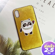 Wonzepad 3D Cute Panda Pattern Embroidered Phone Case TPU Soft Border Case For iphone11 11pro 11proMax 7 7Plus 8 8Plus X XS XR Xs Max