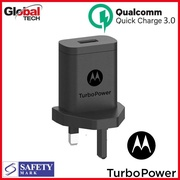 Quick Charge 3.0 USB Charger 18W Motorola Wall Charger UK Plug with Safety Mark (OEM Pack) - 1 Year Warranty!