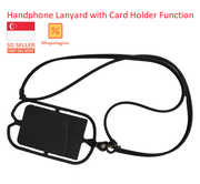 Mobile Phone Lanyard With Card Pocket for Universal Mobile Stretchable up to 7inch Phone, Adjustable Length, Durable Silicone, Trendy Design