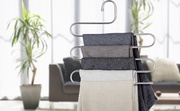 【Buy 2 Get Additional  2 Free】Pants Hangers S-type Stainless Steel Trousers Rack 5 layers【Buy 2 Get 2 Free】
