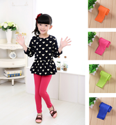 Children's pants children's milk silk leggings girl candy ice wire tight nine-point pants in small children's clothing.