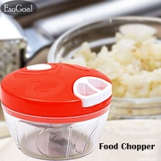 EsoGoal Veggie Chopper Manual Extraction Food Cutter Pearly Veggie Chopper Fruit Twist Shredder High Speedy Design Vegetable with Anti Skip Handle for Meats Nuts Onions