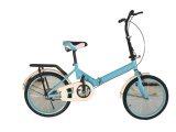 """20"""" Hi-Ten Steel Folding Bike - Blue"""