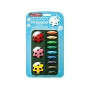 日本 Primomo - Primomo普麗貓趣味蠟筆(附橡皮擦)-花瓣型-12色-1入組