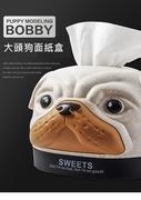 大頭狗狗造型面紙盒