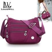 LouisWill สไตล์เกาหลีใหม่กันน้ำกระเป๋าผ้าไนลอนผู้หญิงกระเป๋าไหล่ข้างเดี่ยวกระเป๋าสะพายข้างกระเป๋าผ้าสุภาพสตรีแฟชั่นกระเป๋าผ้าใบผ้าอ๊อกซ์ฟอร์ด