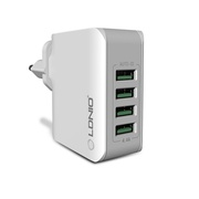 【SG SELLER】LDNIO A4403 Four Ports Universal USB Power Travel Wall Charger Charging Adapter For iPhone Samsung Xiaomi Mobile phone