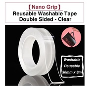 Nano Grip Reusable Washable Tape No Residue Super Strong Bond - Clear 3M Adhesive Removable Washable Double Sided Tape