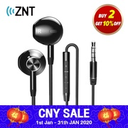 ZNT R669 Half in-Ear Stereo HIFI Sound Quality TPE Wired No Ear Pain Earphone