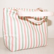"""Blingbling"" ulzzang pink striped small cloth bag hand-packed fabric art cute small fresh sen hand-held hand-held as a bag girl"