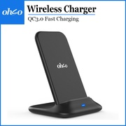 OHSO Airpower 6 Dual Coils QC3.0 Fast Charging QI Fast Wireless Charging Stand Wireless Charger Quick Charge 10W for iPhone Samsung Huawei Xiaomi