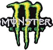 モンスターエナジー MONSTER ENERGY 刺繍 アイロンワッペン 7.2cm x 7.8cm